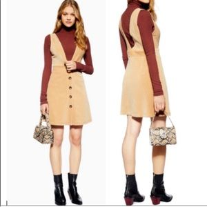 Topshop | Corduroy Pinafore Dress NWT